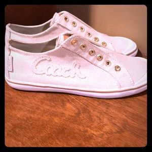 Coach sneakers Keeley Lurex Canvas size 7.5.